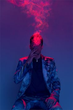 Lighting effects smoke photography neon lights grunge portrait indie portrait senior photos