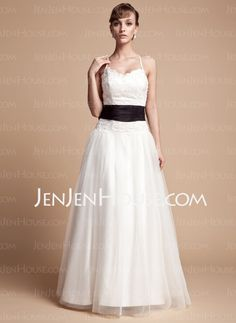 Wedding Dresses - $177.99 - A-Line/Princess V-neck Floor-Length Taffeta  Tulle Wedding Dresses With Ruffle  Lace  Sashes  Beadwork (002000131) http://jenjenhouse.com/A-line-Princess-V-neck-Floor-length-Taffeta--Tulle-Wedding-Dresses-With-Ruffle--Lace--Sashes--Beadwork-002000131-g131
