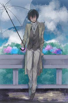 He's like waiting for someone who will never come 💔 Dazai Bungou Stray Dogs, Stray Dogs Anime, Manga Anime, Anime Art, I Love Anime, Anime Guys, Vocaloid, Dazai Osamu, Fan Art