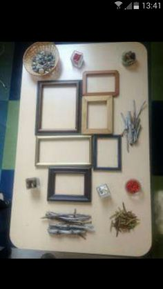 Investigation area frames and loose parts