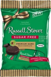 Russell Stover Quality Dark Chocolate 3 once bags you choose how many we ship to your door !........SIMPLE These are as delicious as regular dark chocolate but without the sugar ! Sweetened with splenda and made in small batches also see our subscription boxes you can these delivered to your door every month!