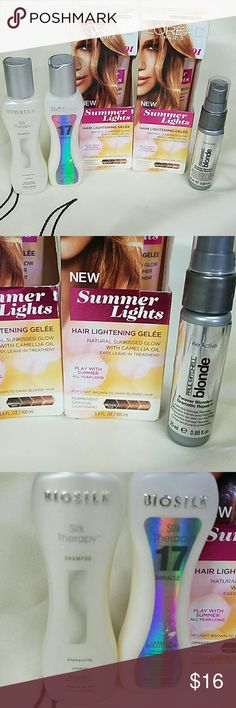 Blonde hair products All new. biosilk Other