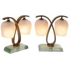 Pair of Bedside Table Lamps by Fontana Arte, 1940s