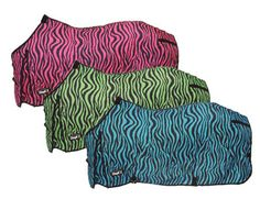 Tough-1 Ripstop Colored Zebra Print Sheet - 57% off only $29.99 |  ChickSaddlery