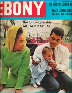 Ali family featured on the cover of Ebony magazine in 1969.