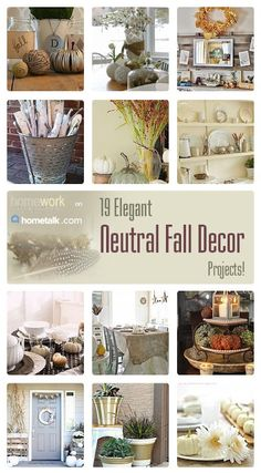 19 Elegant Neutral Fall Decor Projects | curated by 'Carolyn's Homework' blog!
