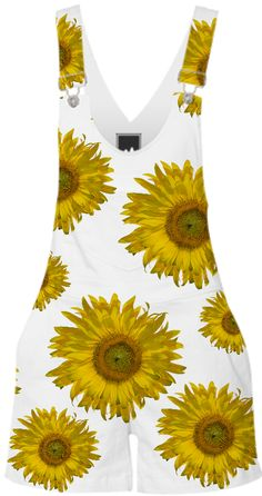 Yellow Scattered Sunflowers Shorterall from Print All Over Me these rock !