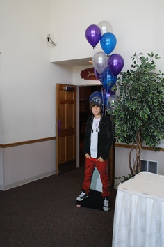 Justin Bieber greets the guests at the door of this Sweet Sixteen. Maneeley's in South Windsor, CT