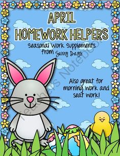 Hassle-Free Homework, Morning Work, or Seat Work for April from Sunny Days on TeachersNotebook.com -  (20 pages)  - Hassle free homework, morning work, or seat work for first and second grade!