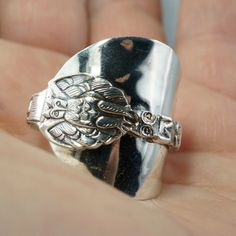 spoon jewelry SIZE 13 STERLING SILVER spoon ring. by SpoonJewelry, $89.00