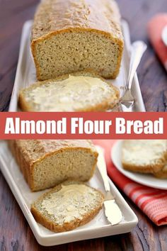 An easy recipe for a quick, filling and tasty almond flour bread. This almond fl… An easy recipe for a quick, filling and tasty almond flour bread. This almond flour bread is keto and paleo, and works great with both savory and sweet toppings. Best Keto Bread, Best Paleo Bread Recipe, Gluten Free Sugar Free Bread Recipe, Bread Recipe For Diabetics, Paleo Sandwich Bread, Carb Free Bread, Diabetic Bread, Sandwich Recipes, Almond Flour Recipes