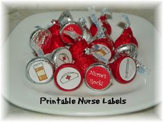 Nurse Printable Hershey Kiss labels INSTANT DOWNLOAD
