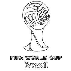 brazil soccer logo coloring pages | 25 Best la coupe du monde de foot images | World cup ...
