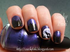 This nail art reminds me of Wolf so I added this to the board. (Not that he would actually wear it, but, you know.)