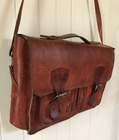 Vintage Leather, Leather Satchel, Messenger Bag, Bird, Trending Outfits, Unique Jewelry, Handmade Gifts, Etsy, Shopping