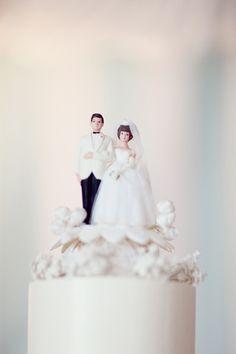 i LOVE vintage cake toppers