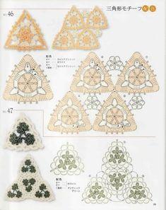 crochet triángulos