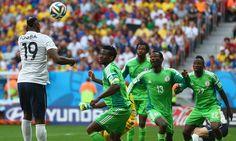 France 2-0 Nigeria: Paul Pogba header sends Les Bleus through