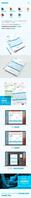 Invoice Template Design Download Graphicriver Item
