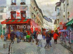369 Street In Montmartre Paris by Richard Neuman Digital Media ~ 18 x 24