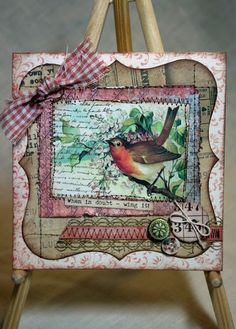 Waiting for Spring wall hanging by Vicki Chrisman using Birds & Blossoms Creative Scraps by Crafty Secrets