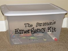 making your emergency kits