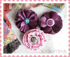 Matilda sequin hair flower headband by xoxotova on Etsy, $10.00