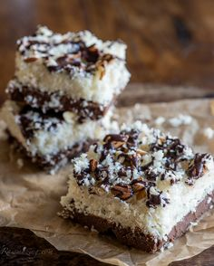 Raw Foods: raw almond joy bars - Almond Joy is my favorite candy bar, but this healthy version is SO much better!