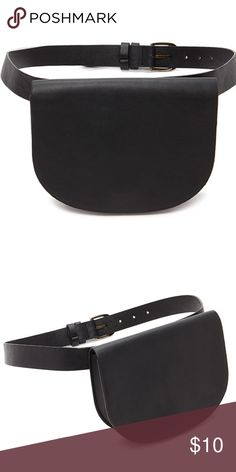 Black fanny pack Worn once! It was perfect for the beach, festivals etc. Forever 21 Bags Mini Bags