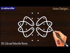 #Arasudesigns#sikkukolam#kambikolam Beautiful kolam, 6 dot neli, melikala muggulu - Nandhana 3a - YouTube Free Hand Rangoli Design, Muggulu Design, Cute Birds, New Year 2020, Rangoli Designs, Easy Drawings, Dots, Symbols, Make It Yourself