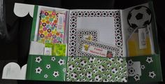 Soccer Lapbook ~ Stationary Pack. Inspiration from a Compassion child sponsor who makes these for her kids.