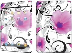 Amazon.com: Purple, Black and White {Flowers} Front and Back Full Body Adhesive Vinyl Decal Sticker for iPad Mini 1st Generation Models A1432, A1454 and A1455 (No Air Bubbles - Removable Residue Free Skin}: Computers & Accessories