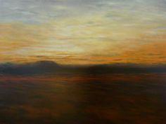 Sunset, Australian Outback, acrylic on canvas.