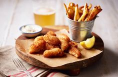 Scampi with salt and vinegar chips   Tesco Real Food