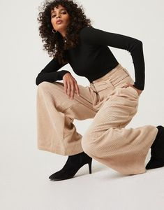 td {border: 1px solid #ccc;}br {mso-data-placement:same-cell;} Try something new with the Wide Leg Corduroy Pants. These corduroy pants come with a detachable belt and also feature a zipper fly and real hip pockets They are not stretchy, but the wide leg silhouette makes up for it. These pants are made from 90% polyester and 10% polyamide. The lining is 100% polyester. Hand wash cold, line dry. Imported. Capsule Outfits, Capsule Wardrobe, Cordoroy Pants, Fashion Pants, Fashion Outfits, Denim Pants, Cargo Pants, Business Outfits, High Waisted Shorts
