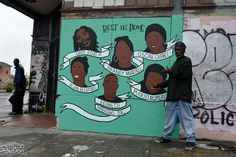 MEMORIAL MURAL for Victims of Police Brutality – Oakland, CA via EndLessCanvas