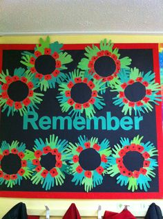 Festivals and Cultural Celebrations Remembrance Day Remember Poppy Display