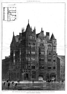 Ocean & Accident & Guarantee Corporation Building in Belfast, 1903. Architecture by Young & Mackenzie