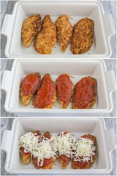 This Chicken Parmesan Recipe is so juicy and easy to make. A family favorite! This Chicken Parmesan Recipe is so juicy and easy to make. A family favorite! Chicken Parmesan Recipes, Grilled Chicken Recipes, Baked Chicken, Wine Recipes, Cooking Recipes, Healthy Recipes, Savoury Recipes, Healthy Food, Easy Recipes