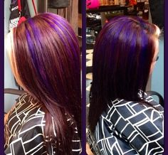 Blonde hilite purple hilites