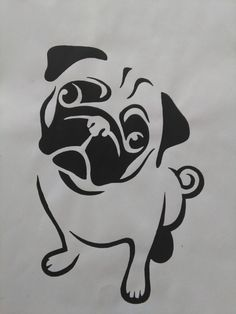 Pug Painting by AriEagle on Ets #pug Painting by AriEagle on Etsy
