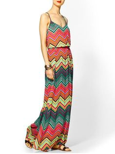 Maxi dress by Ella Moss would go perfect with a cropped jacket #Spring