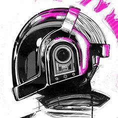 Grafika66 – The Art of Baz Pringle » Daft Punk