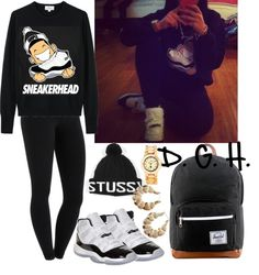 """Sneakerhead x Concords"" by dopegenhope ❤ liked on Polyvore"