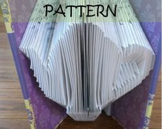 Book folding Pattern: TEAPOT design (including instructions) – DIY gift – Papercraft Tutorial
