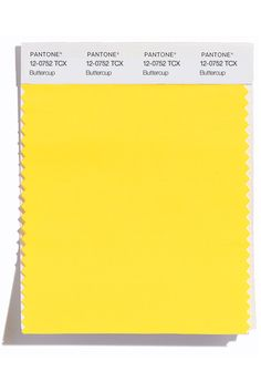 These are the colors to watch for in spring 2016: Buttercup (Pantone 12-0752)  http://www.pantone.com/pages/fcr/?season=spring&year=2016&pid=11