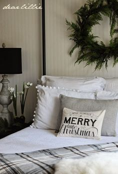 Dear Lillie: A New Christmas Pillow and Christmas Cards (Cute christmas Bedding) Christmas Love, Country Christmas, All Things Christmas, Winter Christmas, Merry Christmas, Christmas Cards, Christmas Items, Beautiful Christmas, Christmas Bedding