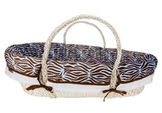 MOSES BASKET SET - BLUE AND BROWN ZEBRA PRINT|Fab Style Kids Rooms http://fabstylekidsrooms.com/Baby-Nurseries/Moses-Baskets/MOSES-BASKET-SET-BLUE-AND-BROWN-ZEBRA-PRINT #baby #expecting