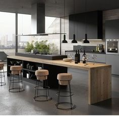 Home Dco Cuisine Design 66 Ideas Kitchen Room Design, Modern Kitchen Design, Kitchen Layout, Home Decor Kitchen, Interior Design Kitchen, Kitchen Furniture, Cheap Furniture, Discount Furniture, Furniture Buyers