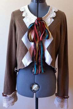 Women's upcycled cropped jacket --- love the idea!